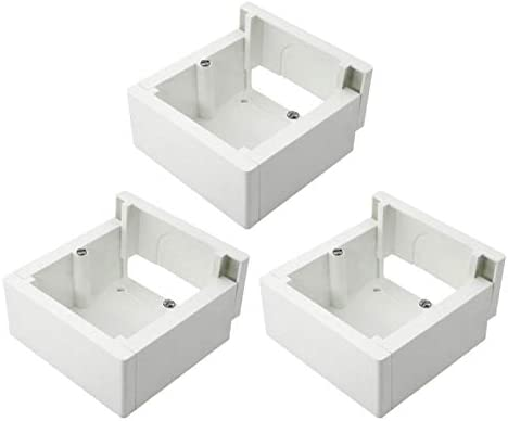 Pack de 3 cajas de superficie enlazable 85x85x42mm: Amazon.es ...