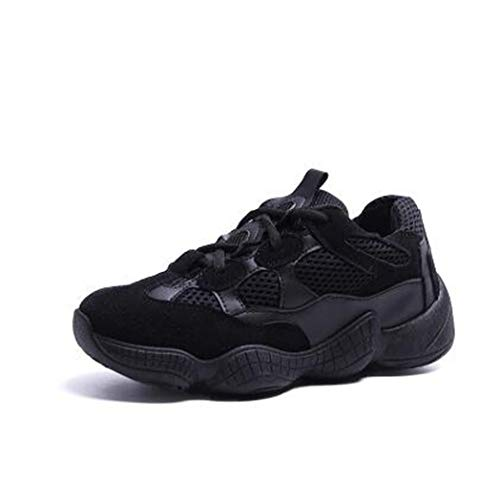 JOYBI Women Casual Wedges Sneakers Breathable Non Slip Tenis Girls Comfortable Air Mesh Low Top Trainers Black