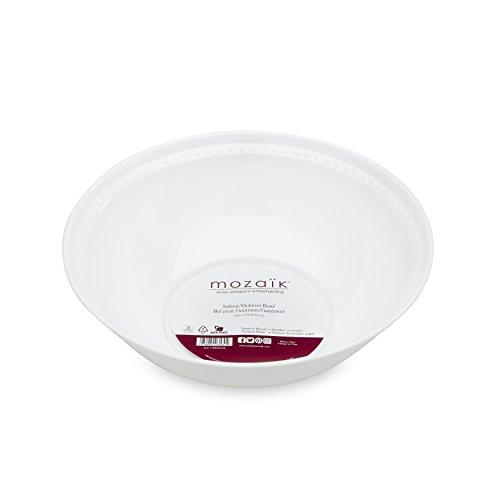 Mozaik Premium Plastic 128 oz. Pearl Serving Bowl
