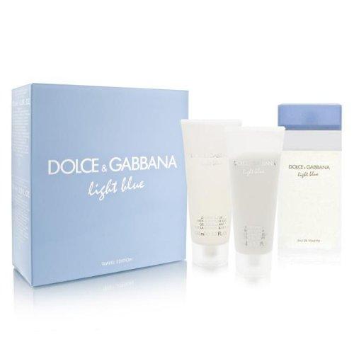 Amazon.com : Light Blue by Dolce \u0026 Gabbana for Women 3 Piece Set Includes: 3.3 oz Eau de Toilette Spray + Refreshing Body Cream Energy