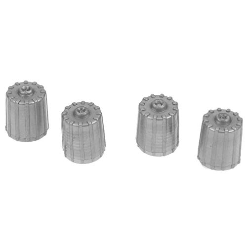 car tire valve caps grey - 9