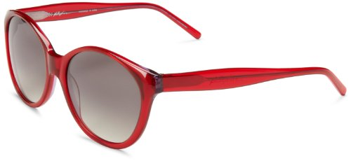 3.1 Phillip Lim Women's Margot Round Sunglasses,Red,56 - 3.1 Eyewear Lim Phillip