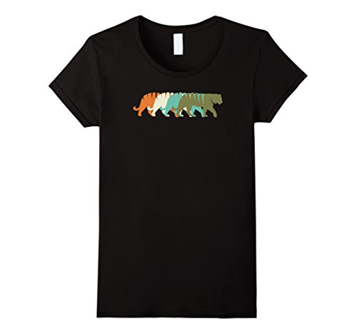 Womens Vintage Tiger T-Shirt RETRO TIGER Animal T-Shirts Medium (Ladies Tiger)