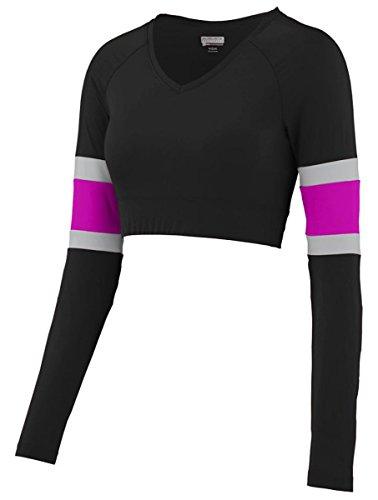 Augusta Sportswear 9020 Women's Double Down Liner Black/Power Pink/Silver Large