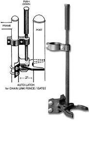 Auto Pool Latch 1-5/8'' X 2'' for Pool Chain Link Fence Gate by Fence-products (Image #1)