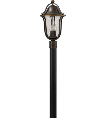 - Outdoor Post 3 Light Fixtures with Olde Bronze Finish Solid Brass Material Candelabra 11
