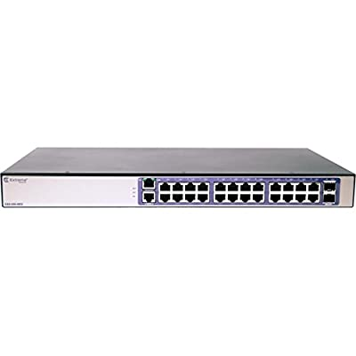 Extreme Networks 210-Series 24 Port 10/100/1000Base-T, 2 1GbE Unpopulated SFP Ports, 1 Fixed AC PSU, L2 Switching with Static Routes (16568)