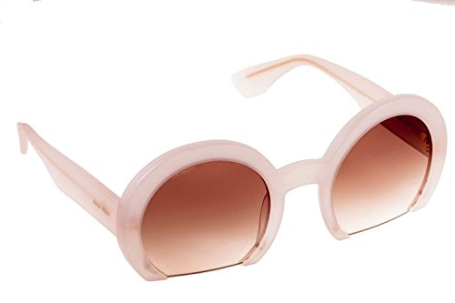 Miu Miu 07QS UAE4K0 Pink 07QS Round Sunglasses Lens Category - Miu Miu Rasoir Glasses