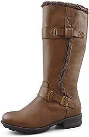 Comfy Moda Women's Tall Winter Boots | Wool Lined | 3M Thinsulated | Full Inside Zipper -