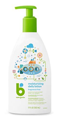 Babyganics Moisturizing Daily Lotion, Fragrance Free, 17oz Pump Bottle (Pack of 2)