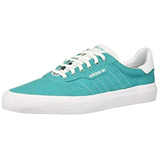 adidas Originals Men's 3MC Regular Fit Lifestyle Skate Inspired Sneakers Shoes, hi-res aqua/White/White, 6.5 M US