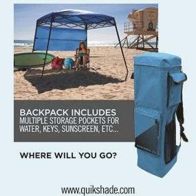 GO Hybrid backpack  sc 1 st  Amazon.com.mx & Quik Shade 157433 Go Hybrid Backpack Canopy 6x6 Feet Blue ...