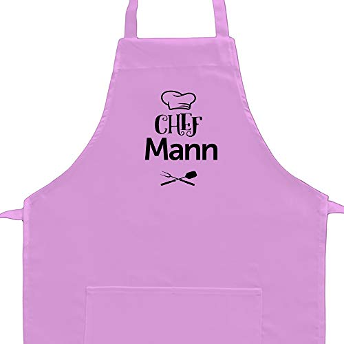 Eddany Chef Mann barbecue utensils Embroidery Aprons Adult or Kid (Männer-chef)