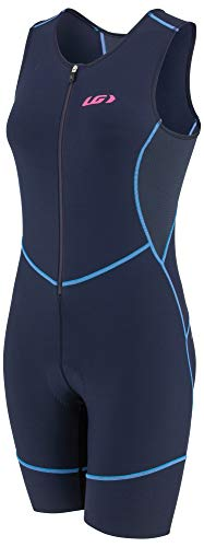 Louis Garneau Women's Tri Comp Breathable, Padded, Sleeveless Triathlon Cycling Suit, Navy/Blue/Pink, Large ()