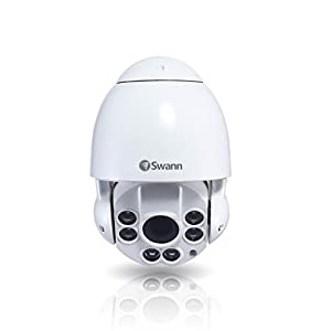 Swann NHD-817 IP 3MP White PTZ Camera PTZ Camera Security Camera, White (SWNHD-817PTZ-US) by Swann