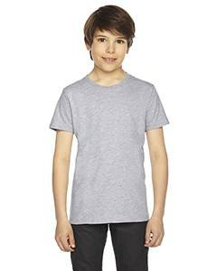 American Apparel Youth Fine Jersey Short-Sleeve T-Shirt - Heather Grey - 10