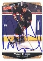 - Vaclav Prospal Ottawa Senators 1999 Victory Autographed Card. This item comes with a certificate of authenticity from Autograph-Sports. Autographed