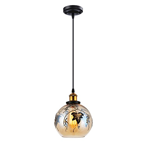 Glass Pendant Light Workmanship Antique Pendant Lighting Industrial Hanging Lights for Kitchen Island,Dining Room,Restaurant,Caf
