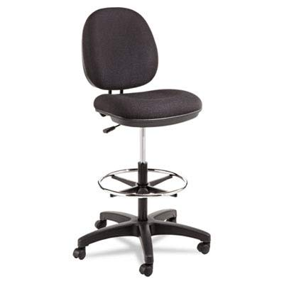 Alera ALEIN4611 Interval Series Swivel Task Stool, 100% Acrylic, Black