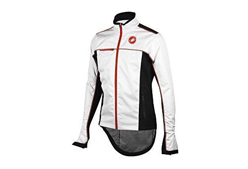 Castelli Sella Rain Jacket - Men's - White/Black, (Castelli Cycling Jacket)