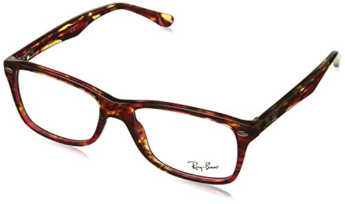 Ray-Ban Women's 0RX5228 Spotted Red/Brown/Yellow One Size (Rayban Goggle)