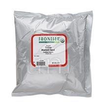 Frontier Herb Mustard Seed - Organic - Powder - Yellow - Ground - Bulk - 1 lb
