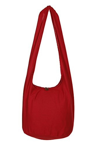 viaje Sling de bolsa Rosso Gypsy diseño Bolsa nbsp;– bolso de Tailandés Hippie algodón de Boho de mano flores nbsp;100 hombro BTw71n0