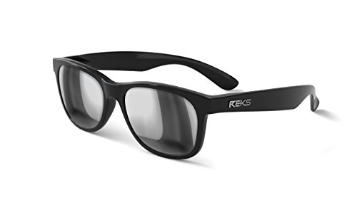 REKS Unbreakable SEAFARER Sunglasses (Satin Touch Black, Silver - Sunglasses Touch