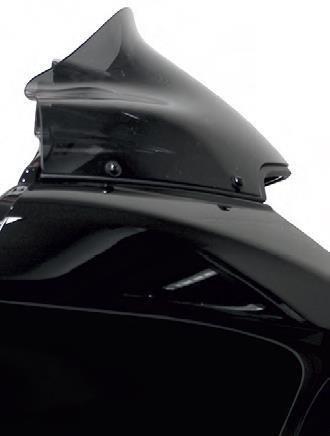 Klock Werks 9''; Black Sport Flare Windshield