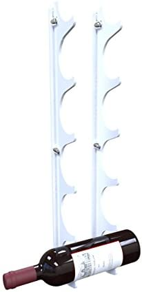 Stylish Wall Mounted White Acrylic Wine Bottle Rack - Holds 6 Wine Bottles (Available in 7 Colours)