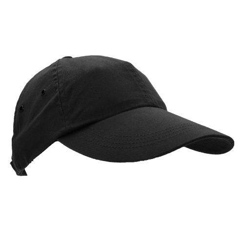 Anvil Unisex Low Profile Twill Baseball Cap / Headwear (One Size) (Black)