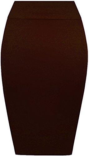 Re Tech UK - Falda - Estuche - para mujer Chocolate Dark Brown