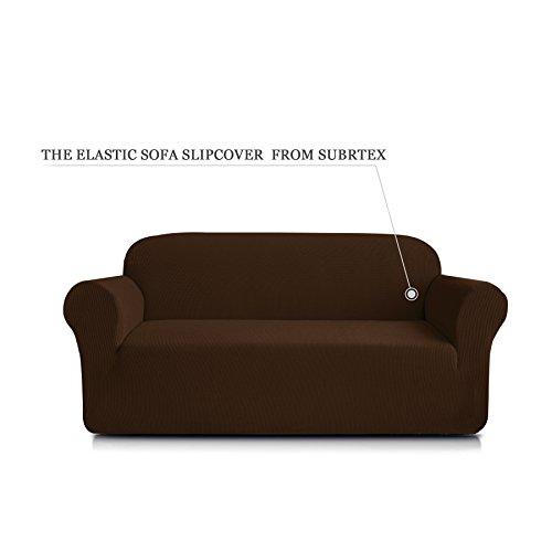 Subrtex 1-Piece Spandex Stretch Sofa Slipcover (Sofa, Coffee)