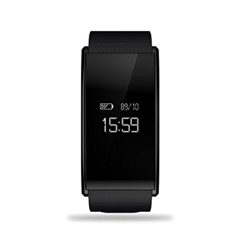 Auntwhale IP67 Waterproof Smart Watch Blueteeth, Android,IOS,Information Push,Blood Pressure Heart Rate Blood Oxygen Monitoring, Pedometer, Calories, Sleep Monitoring - Black by Auntwhale