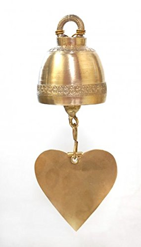 Siam Bell - Handmade Brass Bell round shape, Diameter 4.5 cm.