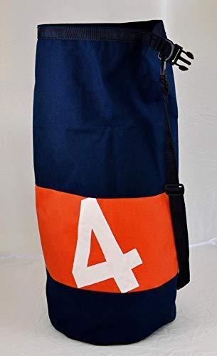 (Sportsbag.Crossbody dufflebag.Cordura Bucket bag.Black Orange travel bag.Roll on gym bag.Personalized Baluchon.Number Cabin rucksack.)