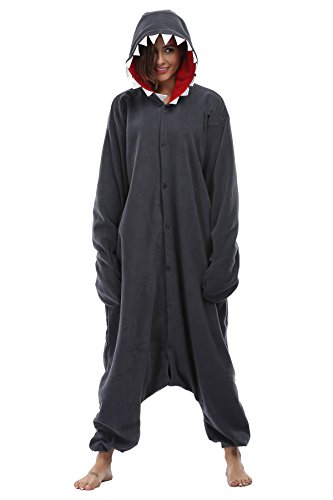 Fanny Sandy Unisex Adult Hooded Onesie Pajamas Animal Costume Sleepwear Cosplay Xmas