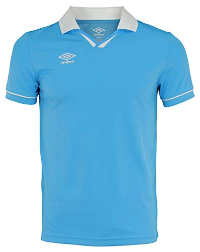 Umbro Mens Johnny Collar Ss Jersey Sky Blue/White Size -