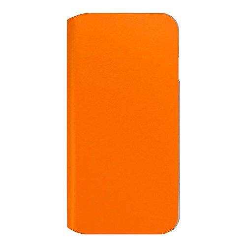 iPhone 8 / 7case, Simplest COWSKIN CASE for iPhone 8 iPhone 7 Notebook Type Thin Type Natural Leather (Orange)