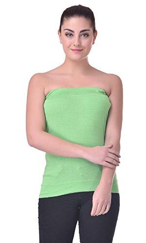 Trend18 Viscose Camo Tube Top – Green
