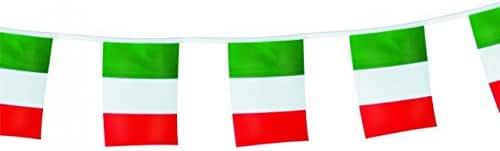 Guirnalda banderines bandera Italia 5 mt – Italiano – Guirnalda Guirnalda banderas Tricolor italiana: Amazon.es: Jardín