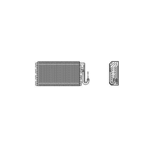 Van Wezel 0600V025 Evaporator, Air Conditioning VAN WEZEL GMBH