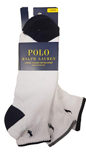 Men's Classic Sports Socks 3-Pack Qtr – White