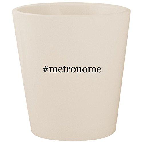 #metronome - White Hashtag Ceramic 1.5oz Shot (Vintage Drum Practice Pad)