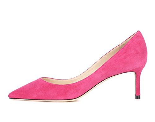 Grande Taille 65mm Talon Haut Escarpins Stilettos Talons Chaussures Rose Ubeauty Aiguille Suede Femmes Femme SgC0AAq