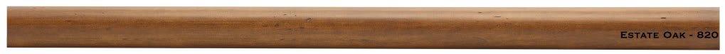 1-3/8'' Wood Smooth Drapery Rod in Estate Oak Finish 8' Long