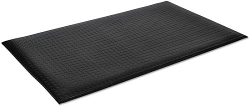 Wear-Bond Comfort King 9/16'' Diamond 3'x12' Black Anti-Fatigue Ergonomic Commercial Floor Mat by Crown