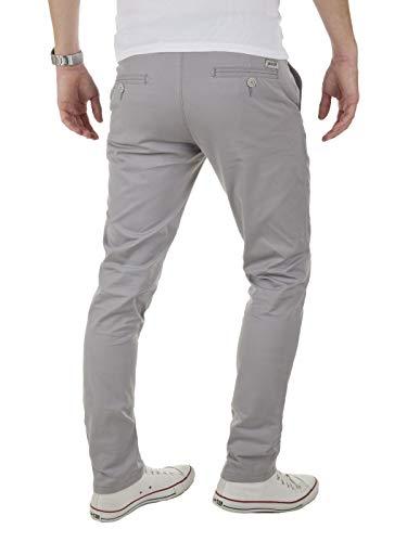 Yazubi Men's Chino Pants Kyle Slim-Tapered Casual Pants, Grey Gull (4R173802), W36/L32