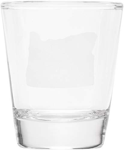 My Heart Is In Oregon Shape In White 1 oz Clear Shot Glass