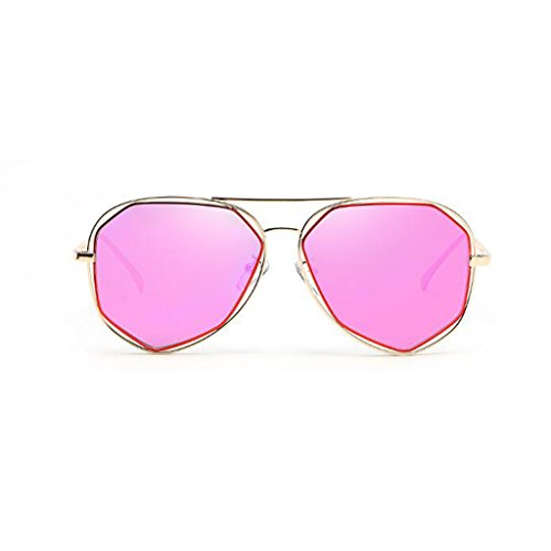 Anti 2 Metal polarizada Espejo HOME Luz UV400 Playa de Movimiento Decorativo Ultraligero Sol Cara 5 Gafas de Redonda QZ Color qF8CwxZUx
